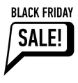 Bubble speech sale black friday icon simple style vector image