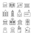 building line icon set - on vector image vector image