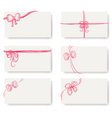 card red bow ribbon doodle vector image vector image