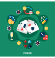 Casino Poker Icons Round Composition vector image vector image