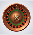 casino roulette wheel isolated gambling wooden vector image vector image