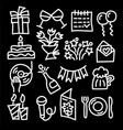 celebrations icons vector image vector image