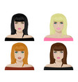 collection of female avatars womens faces with vector image