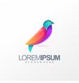 colorful bird logo design vector image