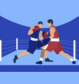 competition boxing two male boxers in minimalist vector image vector image