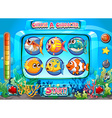 Computer game template with fish as characters vector image vector image