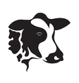cow design on white background vector image vector image