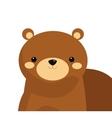 cute bear cartoon icon vector image