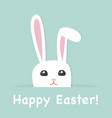 cute easter greeting card vector image