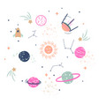 cute planets clipart for kids vector image