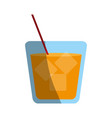 delicious wine drink glass vector image