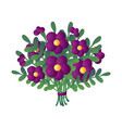 elegant fresh bouquet of beautiful purple flowers vector image vector image