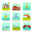 energy sources power plants and natural resources vector image vector image
