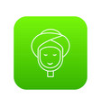 facial spa treatment icon green vector image vector image