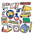 Fashion Badges Patches Stickers Education School vector image vector image