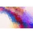 flat abstract triangle banner background vector image vector image
