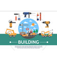 flat building industry concept vector image