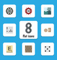 Flat icon play set of chess table backgammon vector image