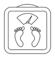 Floor analog scales icon outline style vector image vector image