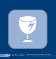 fragile glass symbol logistics icon vector image vector image