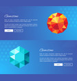 gemstone crystals and minerals web design vector image vector image