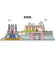 ghana line skyline ghana vector image vector image