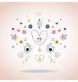 hearts and stars abstract art vector image vector image