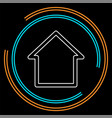 home icon real estate house vector image