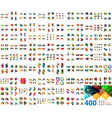 huge mega collection of web banner design vector image vector image