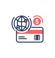 internet banking - modern line design icon vector image vector image