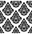 Intricate black and white arabesque design vector image vector image
