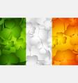 Irish flag made from shamrocks vector image vector image