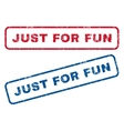 Just For Fun Rubber Stamps vector image vector image
