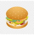 king of burger icon isometric style vector image vector image