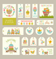 labels tags with of easter theme vector image