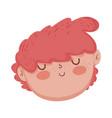 little chubby boy head character vector image