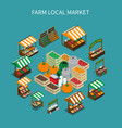 local market round composition vector image vector image