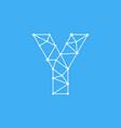 logo letter y dots lines vector image vector image