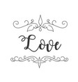 love abstract design white background image vector image