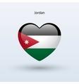 Love Jordan symbol Heart flag icon vector image vector image
