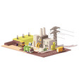 low poly landfill gas collection plant vector image vector image
