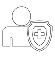 Medical insurance concept icon outline style vector image vector image