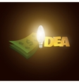 money and word idea with light vector image