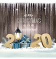 new year holiday background with gift boxes and vector image