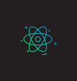 nuclear icon design vector image vector image