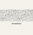 oktoberfest banner concept vector image vector image