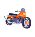orange scooter design motorized motorbike icon vector image vector image