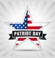patriot day usa star ribbon vector image vector image