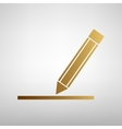 Pencil sign Flat style icon vector image vector image
