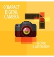 photo camera logo design template digital vector image